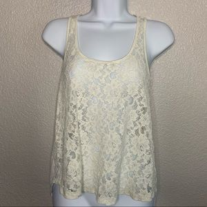Forever 21 Off White Lace Top